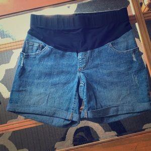 Jean Maternity Shorts